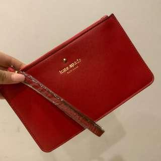 🚚 Kate Spade Red Leather Pouch #EndgameYourExcess