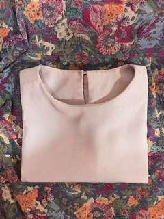 Light pink oversized top