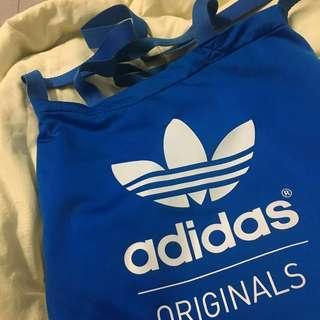 Adidas愛迪達藍色兩用手提斜背 購物袋 包包 袋子 提袋 側背包 斜背包