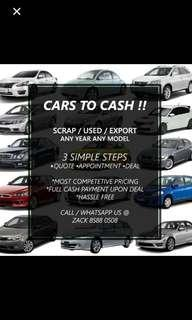 Scrap / Used Cars wanted !!