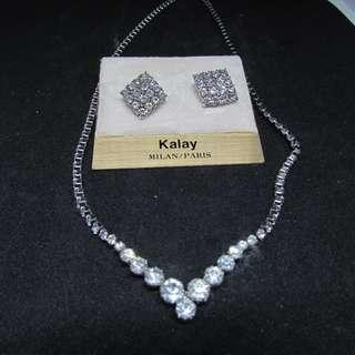 New ! Kalay Earrings and Necklace (with box)