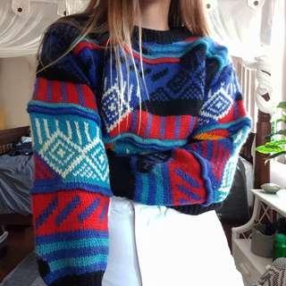 Insane 80s style 100% wool jumper