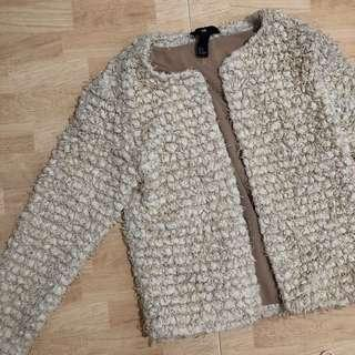 h&m faux wool jacket
