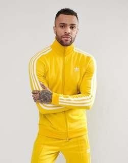 adidas originals adicolor yellow trackjacket