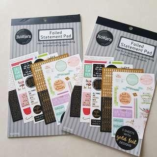 Font and Statement Sticker Book