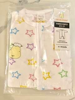 🚚 Bamboo Baby Sleepsuit with Zip 12-18 Months