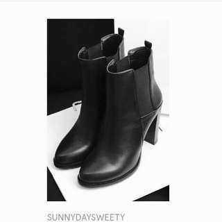 Black Ankle Boots 韓國黑色短皮靴