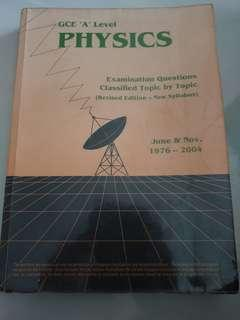 GCE 'A' Level Physics 1976 - 2004
