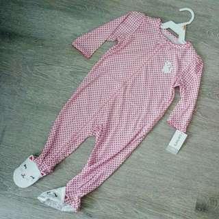 NEW 12 Carter's Girl Long Sleeve Sleepwear / Playsuit