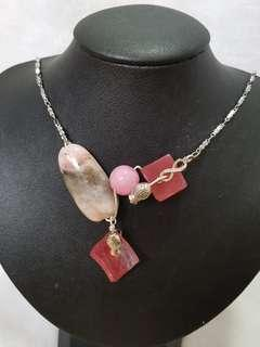 Opal and agate necklace