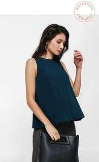 🚚 Love Bonito Ava Trapeze Side Pleat Maternity Top