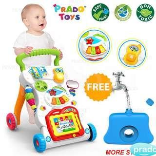4 in 1 Children Music Walker Baby Learn Walk Stand Trolley