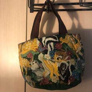 🚚 刺繡 絕版 Disney小鹿斑比刺繡提袋