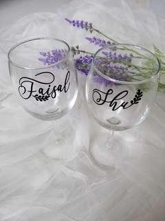 Custom Wedding Glass with Vinyl