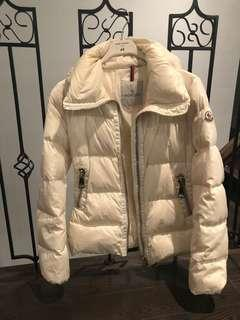 Moncler white down jacket coat