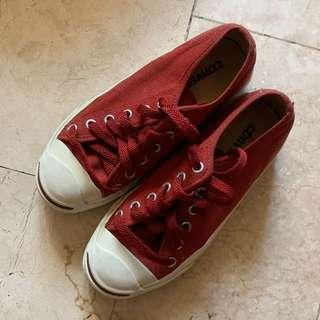 Red Jack Purcell Converse Sneakers Shoes