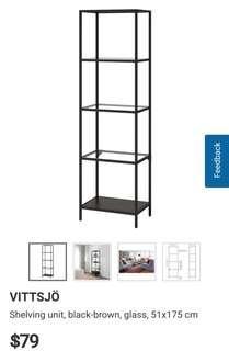 IKEA Shelving Unit VITTSJO