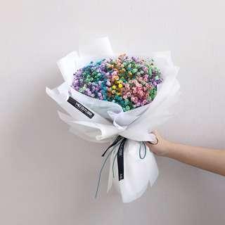 Graduation Flower Baby's breath bouquet | mix color baby's breath | fresh flower bouquet | birthday gift | Anniversary flower | baby breath | flower delivery | 满天星 花束 |彩虹满天星 | 鲜花运送