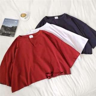 🚚 [PO] Oversized Ripped Crop Top