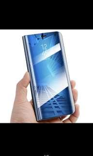 Huawei P20 Lite Slim. Flip clear mirror phone case