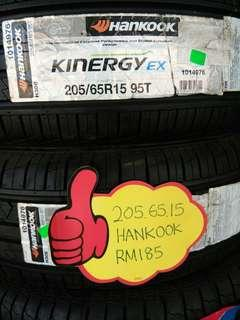 205/65/15 hankook kinergy