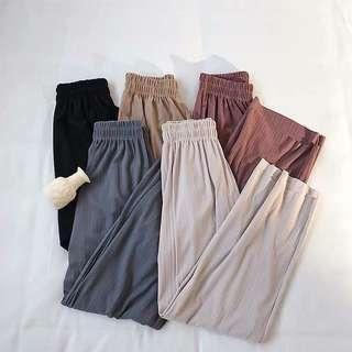 🚚 [PO] High Waisted Elastic Pleated Pants