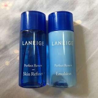 【包郵】Laneige Perfect Renew Skin Refiner & Emulsion 爽膚水及乳液