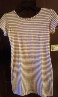 dress stripe fit body lucu
