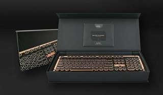 🚚 AZIO RETRO CLASSIC ARTISAN BT 牛皮復古打字機鍵盤(無線版)  Windows與macOS雙系統適用