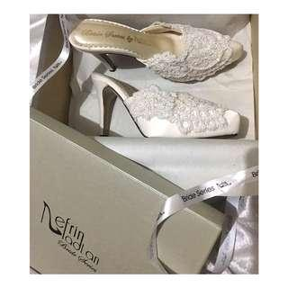 Bride Shoes by Nefrin Fadlan