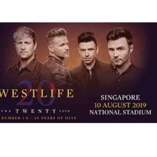 [WTS] PB1 ROW 1 & 2 - WESTLIFE THE TWENTY TOUR CONCERT TICKET