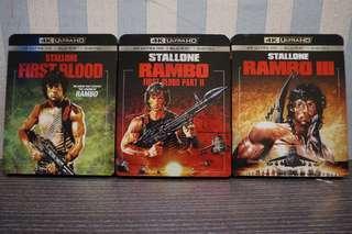 Rambo Trilogy 4k Ultra HD Blu-ray