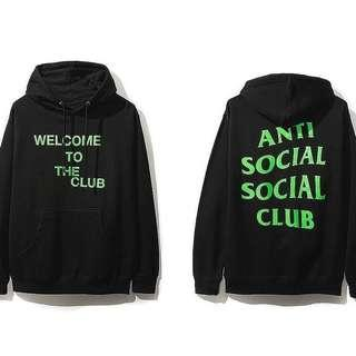 "Anti Social Social Club ASSC ""Welcome To The Club"" Hoodie"
