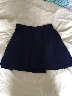 Cobalt skater skirt from f21