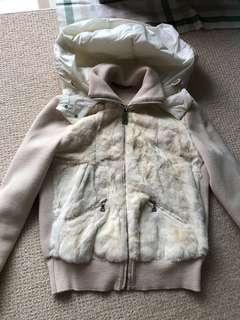 Prada 兔毛薄外套