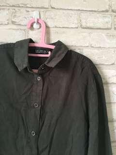 Cotton on washed dark green long sleeve