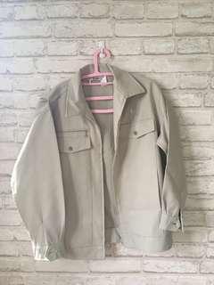Cream light beige vintage work jacket