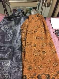 🚚 花紋薄長披巾