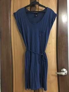 H&M blue sun dress
