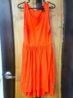 H&M orange Sunday sun dress with skater skirt