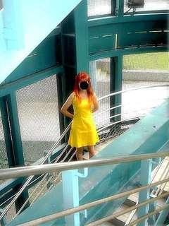 Cos/Cosplay EVA 新世紀福音戰士 明日香 黃色洋裝 直購免郵