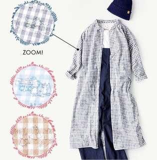 日本代購 SM2 x Moomin 娒明谷pattern格仔長恤衫 長外套