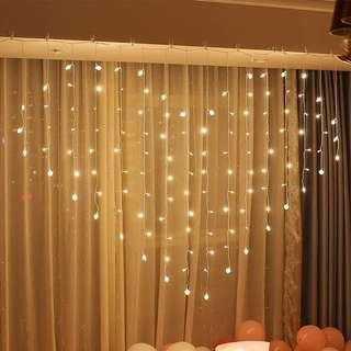 LED愛心窗簾燈 情人節 求婚