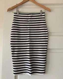 French Connection Striped Skirt Size 8