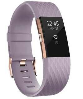 Rose Gold Fitbit Charge 2 Heart Rate + Fitness Tracker
