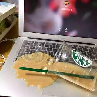 Prank Toys Joke Starbucks Coffee Spill Overturn Cup Pranks on Laptop Pepsi Soup Pour Joking