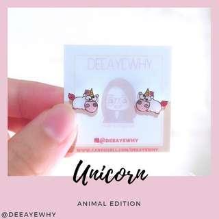 🚚 Unicorn Ear Studs