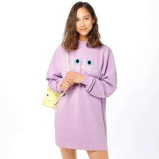 Lazy Oaf purple kitty jumper