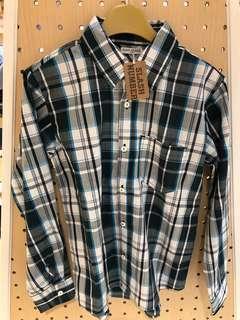 Boys check shirt 男童斯文格仔恤衫