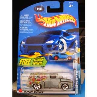 Hot Wheels 1956 Ford WITH Atomix  Vehicle 2003 Card